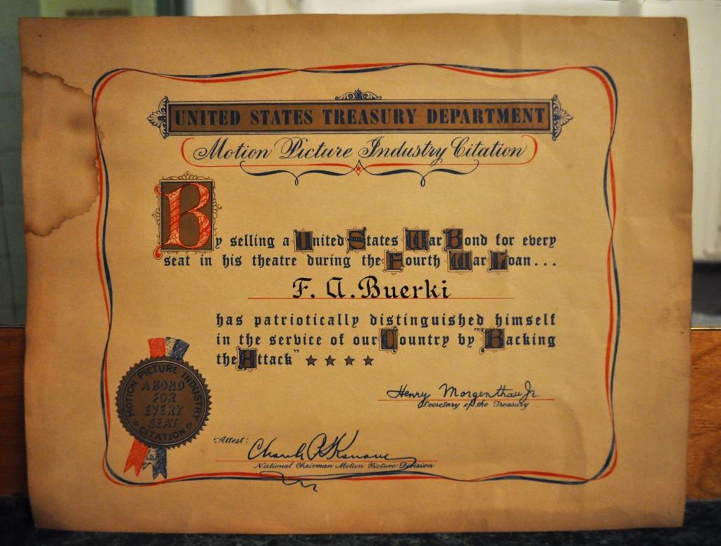 Buerki certificate