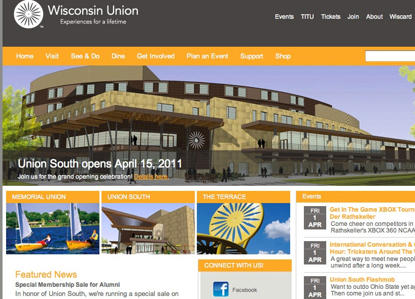 Wisconsin union unveils new website terrace views for Terrace homepage