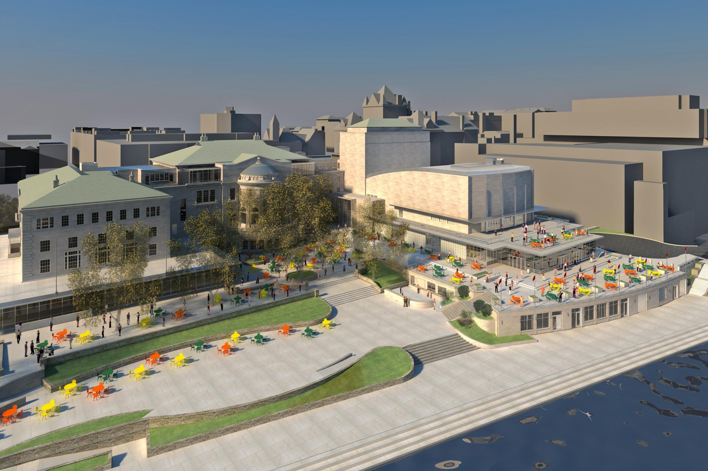 Lakefront gateway project will link lake mendota campus for Madison terrace