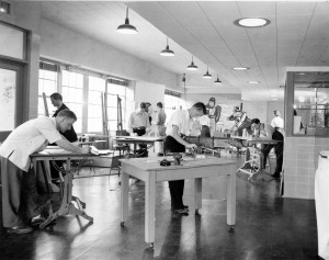 Craftshop during the 1940s in the West Wing of Memorial Union