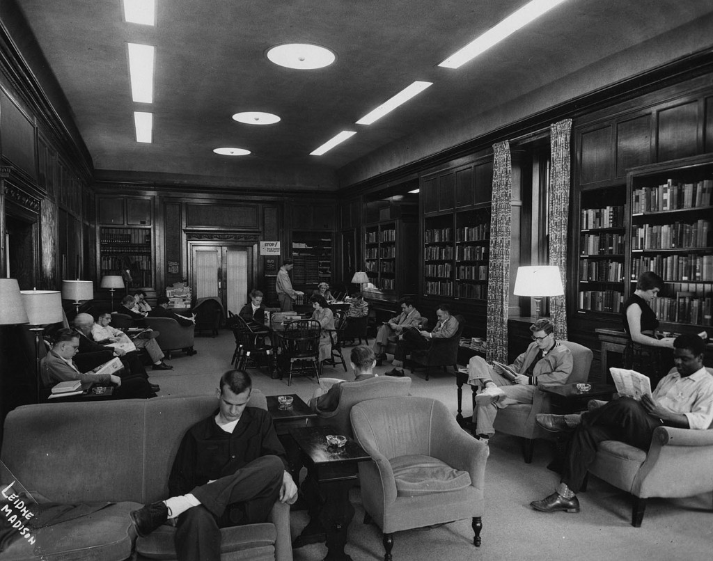 The Browsing Library in 1954.  Photo courtesy of University of Wisconsin Digital Collections.
