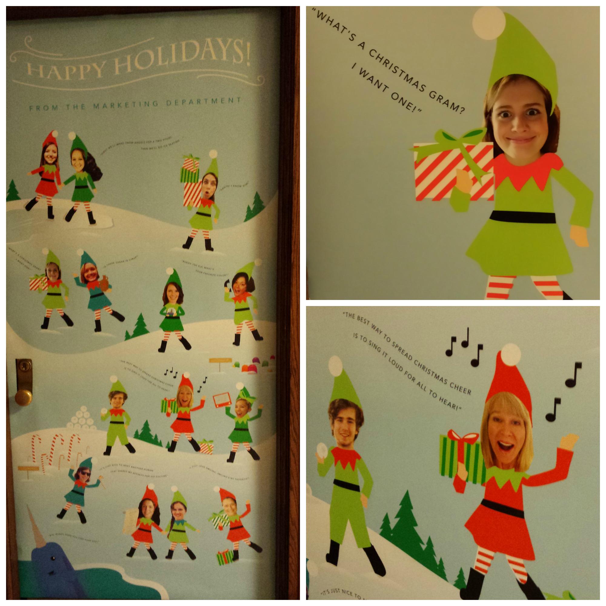 Union doors display winter wonderland terrace views for Elf door and elf