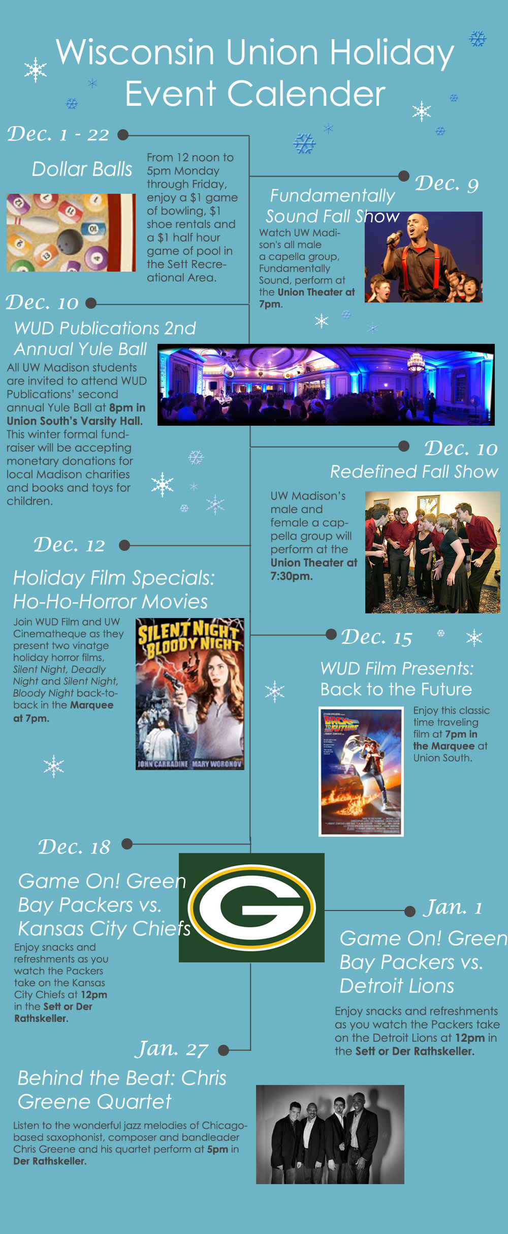 Concerts, movies & more on our holiday event calendar!