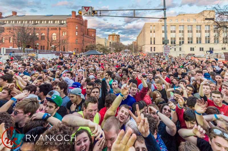 Crowd at the Revelry Music and Arts Festival on May 3rd, 2014.
