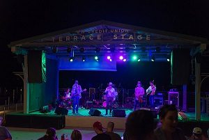 A band performing at Terrace After Dark