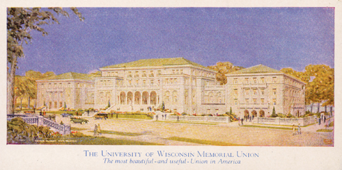 Original drawing done by the state architect before Memorial Union was built.