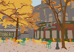 Fall at the Memorial Union Terrace – Your October 2021 Wallpapers
