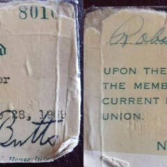Old-School Membership Card is a Piece of Union History